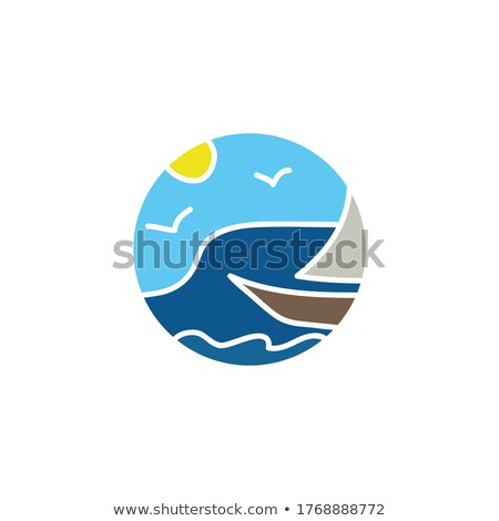 Travel agency poster with map of planet. Vector illustration. stock photo © Leo_Edition