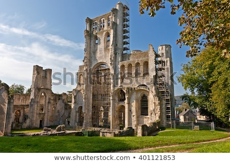 Manastır normandiya Fransa Bina mimari tapınak Stok fotoğraf © phbcz