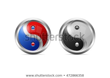 ying yang shadow red Stock photo © nicemonkey