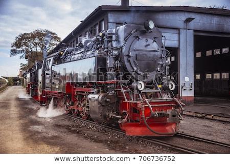 старые · ретро · пар · поезд · весны · дым - Сток-фото © compuinfoto