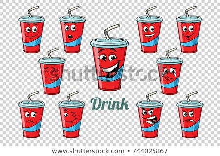 drink Cola tube emotions characters collection set Stock photo © rogistok