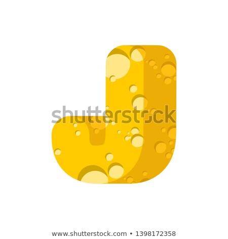 Mektup peynir simge alfabe mandıra Stok fotoğraf © popaukropa