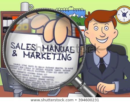 De vendas manual lente rabisco estilo homem de negócios Foto stock © tashatuvango