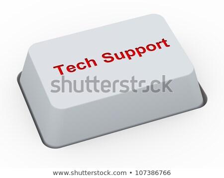 help and support   keyboard key concept 3d stock photo © tashatuvango