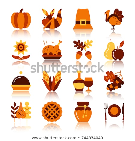 Icon Thanksgiving day cornucopia Stock photo © Olena