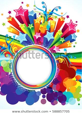 absztrakt · vektor · spektrum · hullám · vonalak · brosúra - stock fotó © pathakdesigner