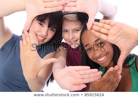 kızlar · güç · anne · kız · oynama · yüksek · topuklu - stok fotoğraf © is2