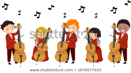 boy playing Cello Stock photo © IS2