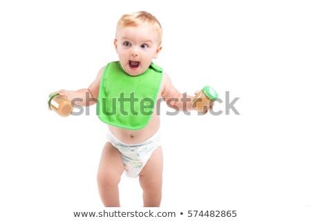 bebek · erkek · gıda · gözler · küçük · anne - stok fotoğraf © traimak