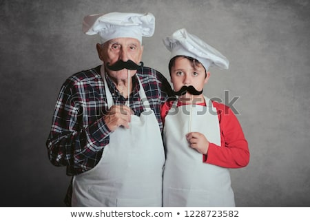 grandfather and grandson cooking Stock photo © IS2