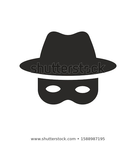 Spy face in hat isolated. Detective avatar. Vector illustration Stock photo © popaukropa