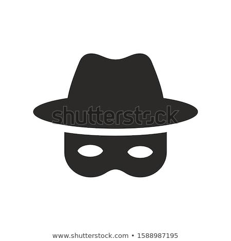 bandido · silhueta · dois · meninas · pistola - foto stock © popaukropa