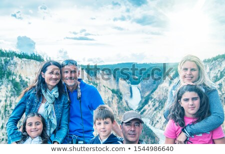 Heureux enfants cascade illustration fille nature Photo stock © bluering