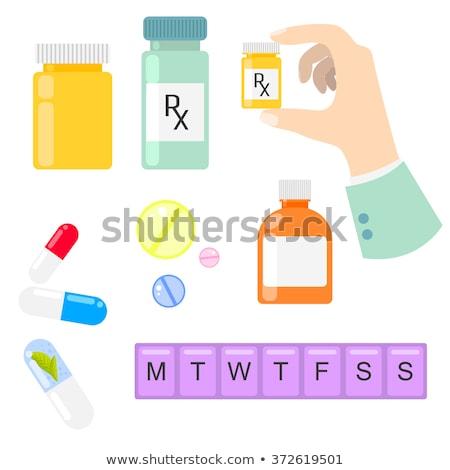 minden · nap · tabletta · doboz · fehér · konténer · izolált - stock fotó © andreypopov