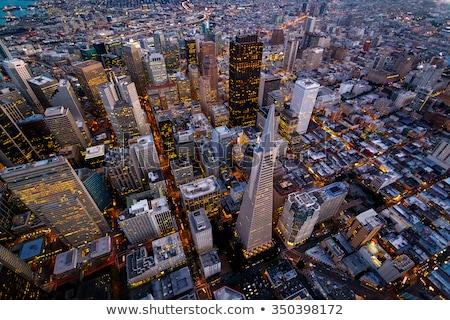 красивой Cityscape Сан-Франциско захватывающий Blue Sky Калифорния Сток-фото © bezikus
