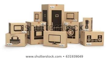 cajas · casa · independiente · vector - foto stock © biv