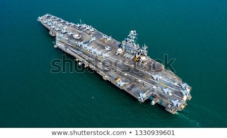 militaire · vervoer · vliegtuig · vliegen · rechtdoor · Blauw - stockfoto © vapi