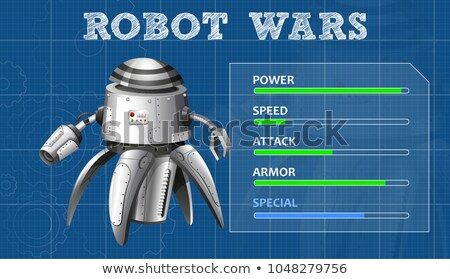 Advanced robot design with feature board Stock photo © bluering