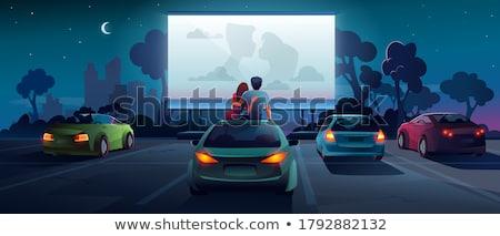 Para parking człowiek sam romans Zdjęcia stock © IS2