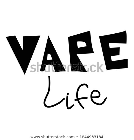 Stock photo: retro vaporizer electric cigarette vapor mod - vape life
