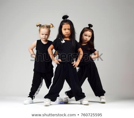 ninos · calle · danza · escena · ilustración · música - foto stock © bluering
