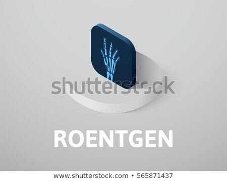 Roentgen isometric icon, isolated on color background Stock photo © sidmay