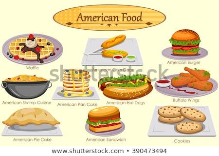 selection of junk food american food stock photo © m-studio