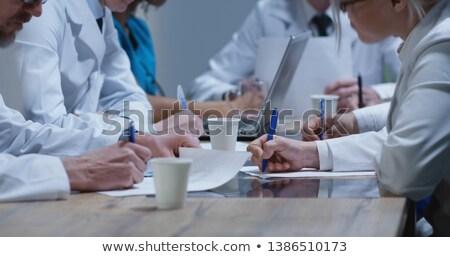 Gruppo shot sette medici medici documento Foto d'archivio © IS2