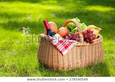 Сток-фото: продовольствие · зеленый · Солнечный · газона