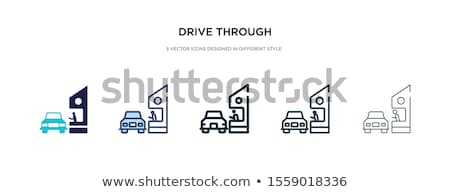 Cars - set of line design style colorful icons Stock photo © Decorwithme
