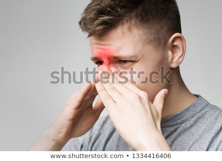 A boy bleeding nose  Stock photo © bluering