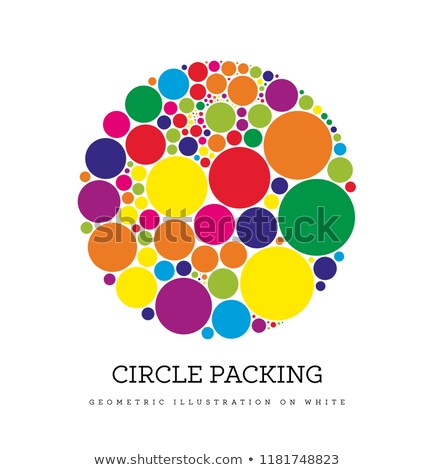 Circle packing. Geometric vector illustration. Circles are placed in such a way that they touch, but Stock photo © m_pavlov