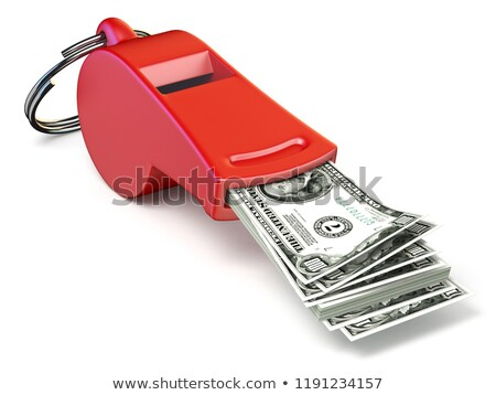dollar money in red whistle 3d stock photo © djmilic