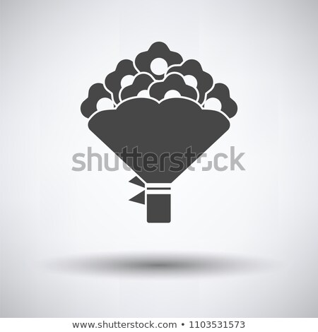 Tulips bouquet icon with tied bow Stock photo © angelp