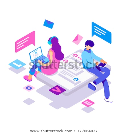 Social network concept vector isometric illustration. Stock photo © RAStudio