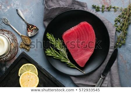atún · filete · cocina · parrilla · peces · alimentos - foto stock © yuliyagontar