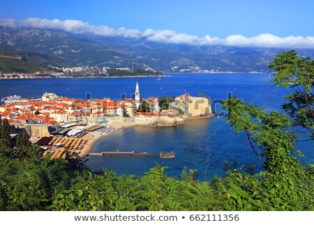 old town with churches and fortifications in budva in montenegro stock photo © bezikus