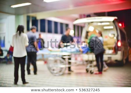 Tolószék kórház sürgősségi ellátás modern üres elmosódott Stock fotó © vilevi