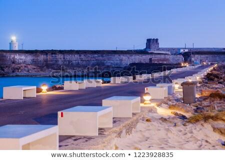 deniz · feneri · İspanya · gün · batımı · deniz · mavi · Avrupa - stok fotoğraf © benkrut