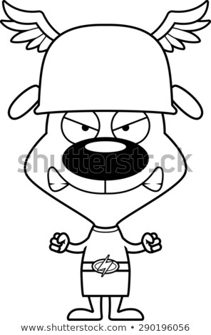 cartoon angry hermes puppy stock photo © cthoman