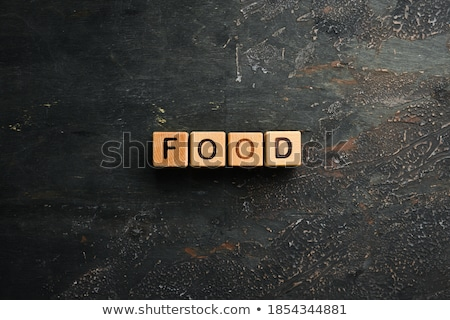 Inscription Healthy Food, from different nuts . space for text Stock photo © Valeriy