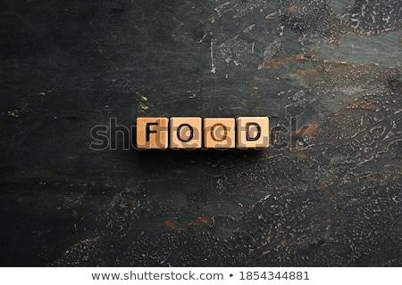 Stock fotó: Felirat · egészséges · étel · különböző · diók · űr · szöveg