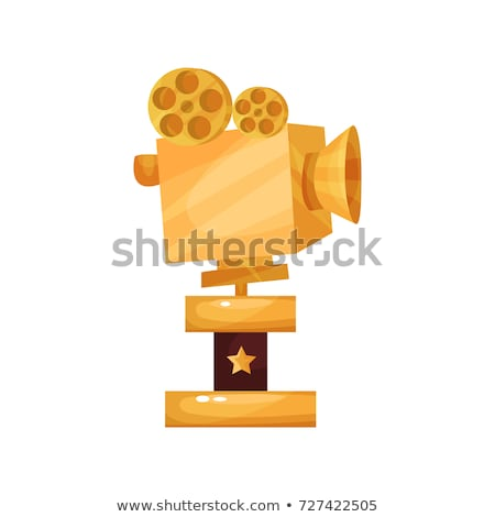 Winner Golden Award Statue Vector Illustration Stock photo © robuart