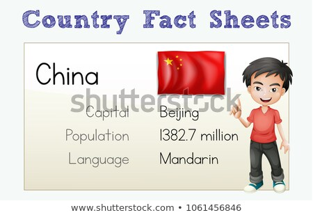 Flashcard for country fact of China Stock photo © colematt