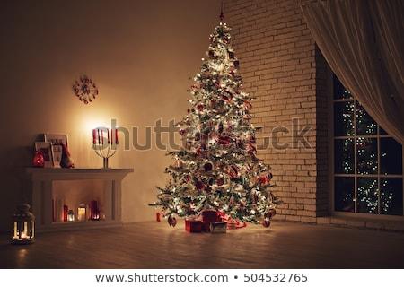 クリスマスツリー クリスマス 贈り物 白 ルーム 冬 ストックフォト © dmitriisimakov