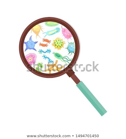 bactérias · vírus · célula · cartaz · prejudicial · fita - foto stock © robuart