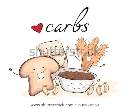 Love Carbs Mascots Illustration Stock photo © lenm