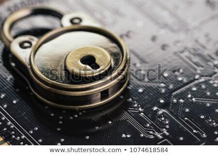 hitelkártya · lakat · billentyűzet · biztonság · ekereskedelem · számítógép - stock fotó © vinnstock