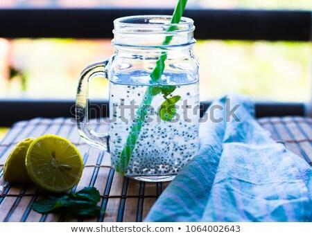 バジル シード ドリンク 石工 jarファイル 水 ストックフォト © Alex9500