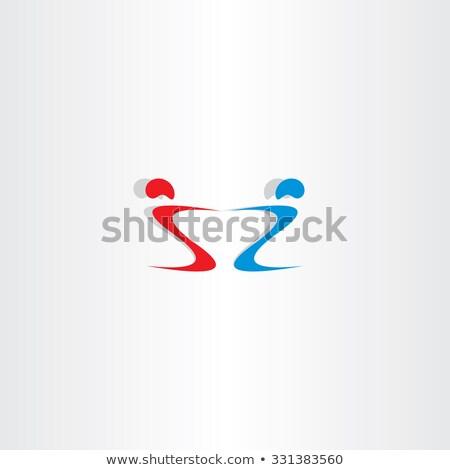 letter s and z people holding hand logo Stock photo © blaskorizov